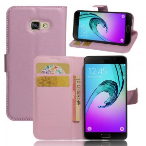 Samsung Galaxy A3 (2017) - etui na telefon i dokumenty - Różowe