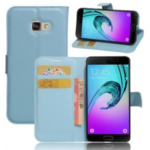 Samsung Galaxy A3 (2017) - etui na telefon i dokumenty - Niebieskie