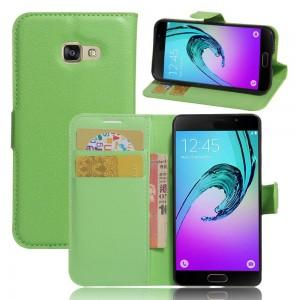 Samsung Galaxy A3 (2017) - etui na telefon i dokumenty - Zielonym
