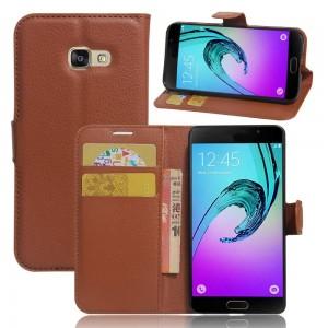 Samsung Galaxy A3 (2017) - etui na telefon i dokumenty - Brązowe