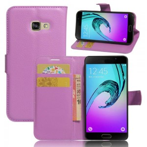 Samsung Galaxy A3 (2017) - etui na telefon i dokumenty - Purpurowe