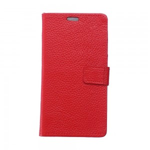 Huawei Mate 9 Pro - skórzane etui na telefon i dokumenty - Czerwone