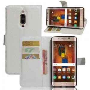 Huawei Mate 9 Pro - etui na telefon i dokumenty - Litchi białe