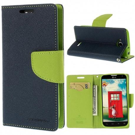 LG L90 - etui na telefon i dokumenty - Fancy niebieskie