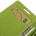 LG L90 Blue Mercury Fancy Diary Wallet Case