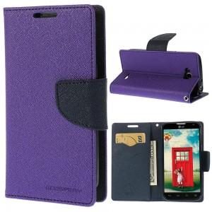 LG L90 - etui na telefon i dokumenty - Fancy purpurowe