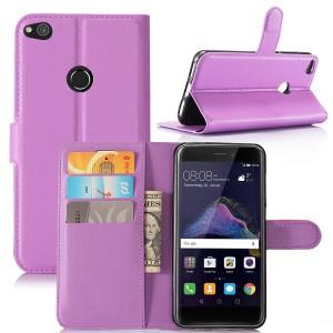 Huawei Honor 8 Lite - etui na telefon i dokumenty - Purpurowe