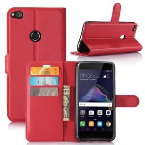 Huawei Honor 8 Lite - etui na telefon i dokumenty - Czerwone