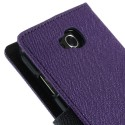LG L90 Purple Mercury Fancy Diary Wallet Case