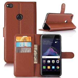 Huawei Honor 8 Lite - etui na telefon i dokumenty - Brązowe