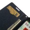 LG L90 Purple Mercury Fancy Diary Wallet Case