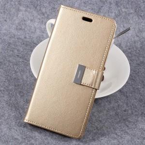 Samsung Galaxy S8 - etui na telefon i dokumenty - Rich Diary Złote