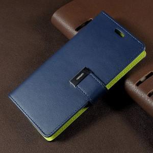 Samsung Galaxy S8 - etui na telefon i dokumenty - Rich Diary Niebieskie