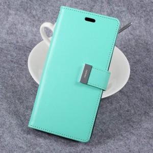 Samsung Galaxy S8 - etui na telefon i dokumenty - Rich Diary Cyjan