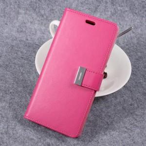 Samsung Galaxy S8 - etui na telefon i dokumenty - Rich Diary Różowe