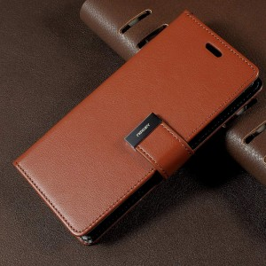 Samsung Galaxy S8 - etui na telefon i dokumenty - Rich Diary Brązowe