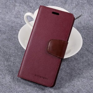 Samsung Galaxy S8 - etui na telefon i dokumenty - Sonata Czerwone Wino