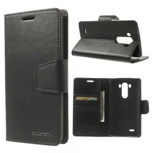 LG G3 - etui na telefon i dokumenty - Sonata czarne