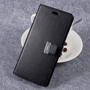 Samsung Galaxy S8+ 6.2″ - etui na telefon i dokumenty - Rich Diary Czarne