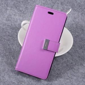 Samsung Galaxy S8+ 6.2″ - etui na telefon i dokumenty - Rich Diary Purpurowe