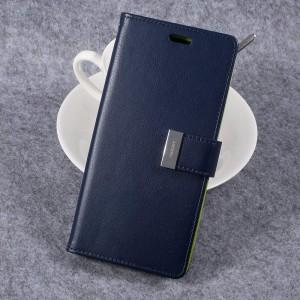 Samsung Galaxy S8+ 6.2″ - etui na telefon i dokumenty - Rich Diary Niebieskie