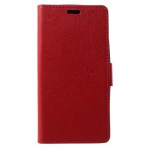 Lenovo Moto G5 - etui na telefon i dokumenty - Litchi Czerwone