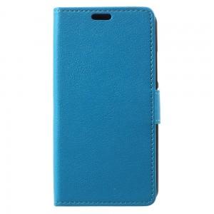 Lenovo Moto G5 - etui na telefon i dokumenty - Litchi Niebieskie