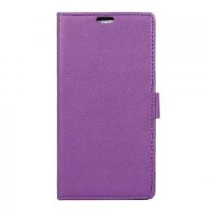 Lenovo K6 Note - etui na telefon i dokumenty - Litchi Purpurowe