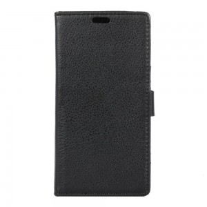Lenovo K6 Note - etui na telefon i dokumenty - Litchi Czarne