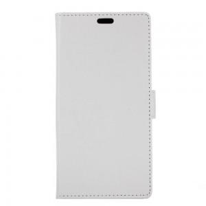 Samsung Galaxy Xcover 4 - etui na telefon i dokumenty - Litchi Białe