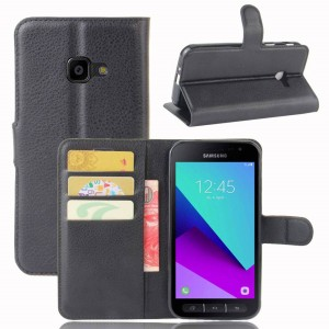 Samsung Galaxy Xcover 4 - etui na telefon i dokumenty - Czarne