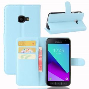 Samsung Galaxy Xcover 4 - etui na telefon i dokumenty - Niebieskie