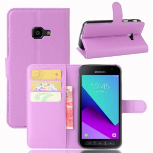 Samsung Galaxy Xcover 4 - etui na telefon i dokumenty - Purpurowe