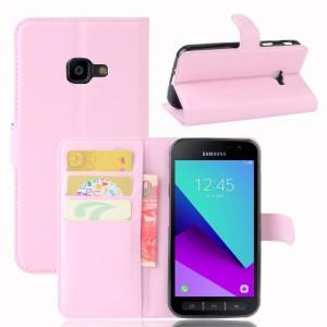 Samsung Galaxy Xcover 4 - etui na telefon i dokumenty - Jasnoróżowe