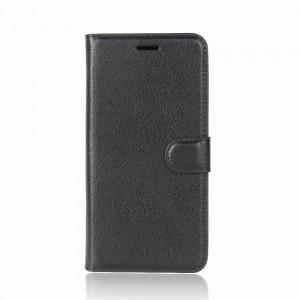 Huawei Honor 9 - etui na telefon i dokumenty - Litchi Czarne