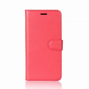Huawei Honor 9 - etui na telefon i dokumenty - Litchi Czerwone