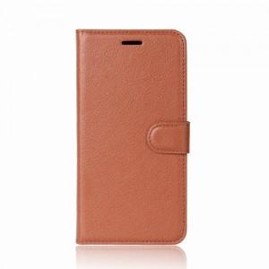 Huawei Honor 9 - etui na telefon i dokumenty - Litchi Brązowe