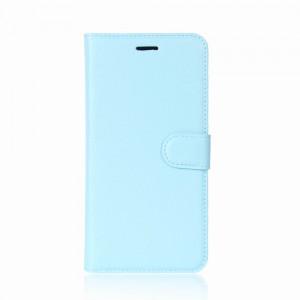 Huawei Honor 9 - etui na telefon i dokumenty - Litchi Niebieskie