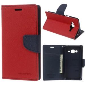 Samsung Galaxy J3 (2016) SM-J320F - etui na telefon i dokumenty - Fancy Czerwone