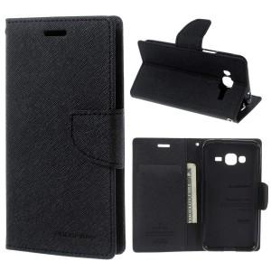 Samsung Galaxy J3 (2016) SM-J320F - etui na telefon i dokumenty - Fancy Czarne