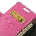 LG G3 Ochronne Portfel Etui – Litchi Różowy