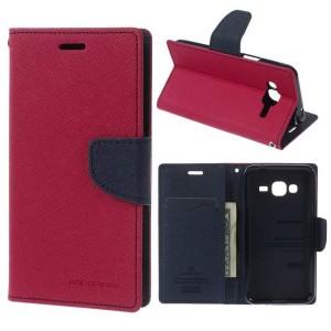 Samsung Galaxy J3 (2016) SM-J320F - etui na telefon i dokumenty - Fancy Różowe