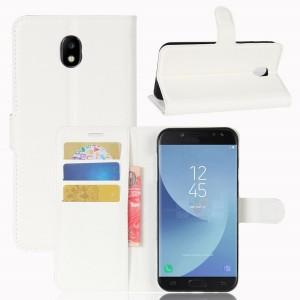 Samsung Galaxy J5 (2017) - etui na telefon i dokumenty - Litchi Białe