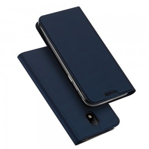 Samsung Galaxy J7 (2017) - etui na telefon i dokumenty - Dux Ciemnoniebieskie
