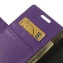 LG G3 Ochronne Portfel Etui – Litchi Purpurowy