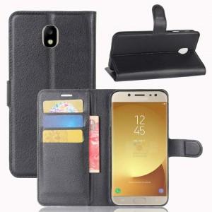 Samsung Galaxy J7 (2017) - etui na telefon i dokumenty - Czarne