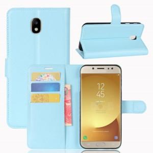 Samsung Galaxy J7 (2017) - etui na telefon i dokumenty - Niebieskie