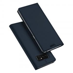 Samsung Galaxy Note 8 - etui na telefon i dokumenty - Dux Ciemnoniebieskie