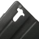 LG G3 S Portfel Etui – Litchi Czarne