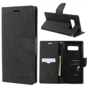 Samsung Galaxy Note 8 - etui na telefon i dokumenty - Goospery Fancy Czarne